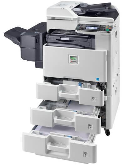 Kyocera SMART FS-C8525MFP with PF470 open @ www.multifaxdds.com.au