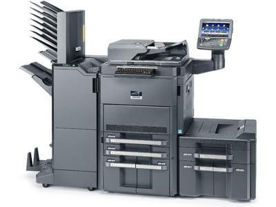 TASKalfa 8001i with Booklet Finisher, Mailbins and PF Unit LH @ www.multifaxdds.com.au