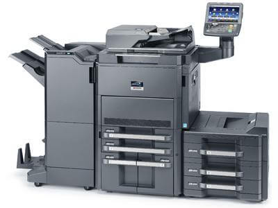 TASKalfa 8001i with Booklet Finisher and PF unit LH @ www.multifaxdds.com.au