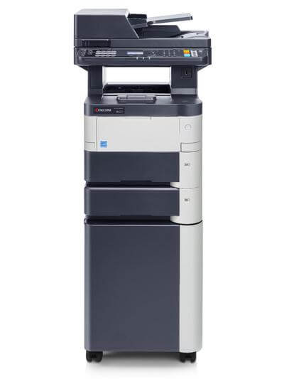 Kyocera ECOSYS M3040dn with Two Trays on cabinet @ www.multifaxdds.com.au