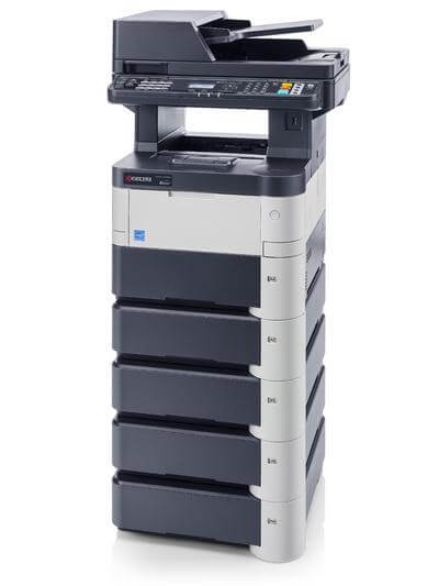 Kyocera ECOSYS M3540dn with Five Trays RH @ www.multifaxdds.com.au