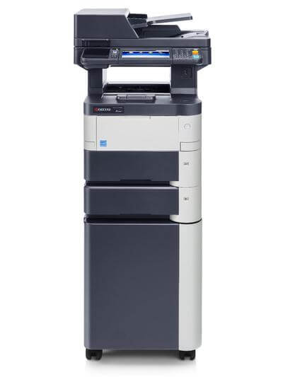 M3550idn with 2 trays and cabinet @ www.multifaxdds.com.au
