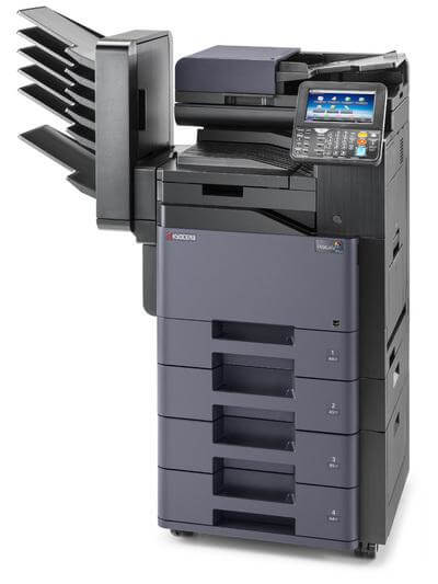 TASKalfa 356ci with mailbins and 4 trays RH @ www.multifaxdds.com.au